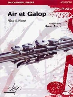 Air et Galop Hans Aerts Partition Flûte traversière - laflutedepan