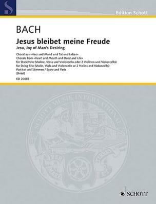 BACH - Jesus, May my joy dwell trio strings - Sheet Music - di-arezzo.com