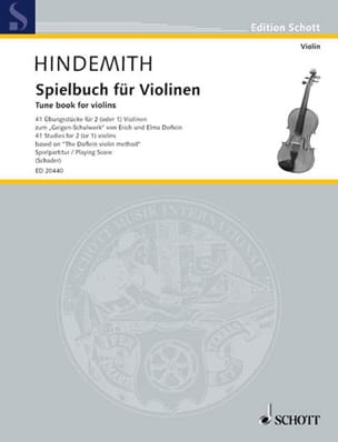 Paul Hindemith - Spielbuch Für Violinen - Sheet Music - di-arezzo.co.uk