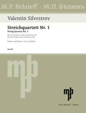 Valentin Silvestrov - String Quartet No. 1 - Partition - di-arezzo.fr