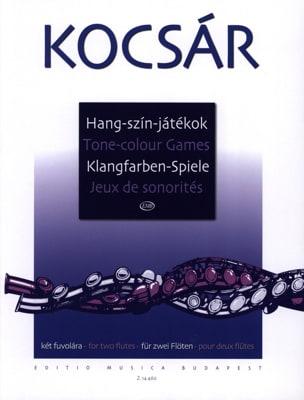 Miklos Kocsar - Tone Colour Games / Jeux de Sonorité - Partition - di-arezzo.fr