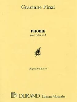 Graciane Finzi - Phobia for Alto Solo - Sheet Music - di-arezzo.com