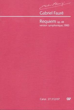 Gabriel Fauré - Requiem Op. 48 Version 1900 - Partition - di-arezzo.fr