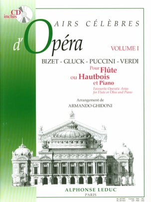 Armando Ghidoni - Famous Opera Airs - Volume 1 - Flute or Oboe - Sheet Music - di-arezzo.co.uk