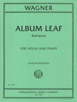 Album Leaf - Romanza - Richard Wagner - Partition - laflutedepan.com