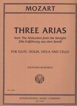 Three Arias Extr. Enlèvement au Sérail - MOZART - laflutedepan.com