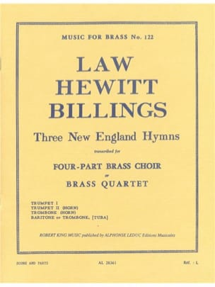 - 3 New England Hymns - Sheet Music - di-arezzo.com