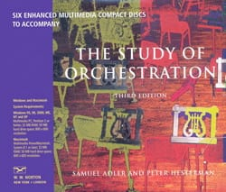 Samuel Adler - Box of 6 Multimedia CDs - The Study Of Orchestration - Book - di-arezzo.co.uk