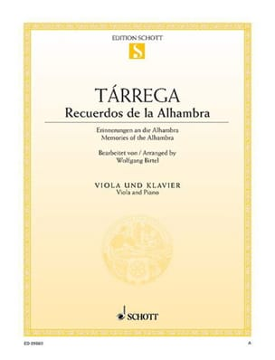 Francesco Tarrega - Recuerdos de la Alhambra - Partition - di-arezzo.fr