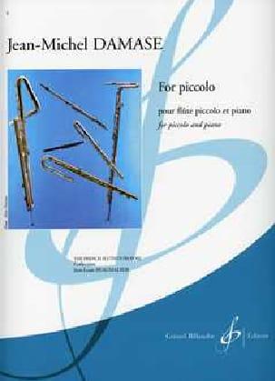 Jean-Michel Damase - For Piccolo - Partition - di-arezzo.fr