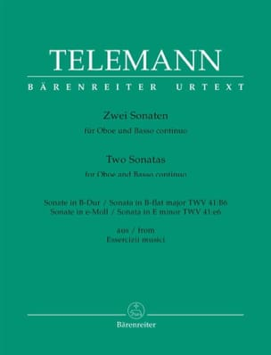 TELEMANN - 2 Sonatas for oboe and basso continuo - Sheet Music - di-arezzo.com