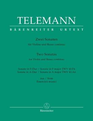 Georg Philipp Telemann - 2 Sonates Pour Violon et Basse Continue - Partition - di-arezzo.fr