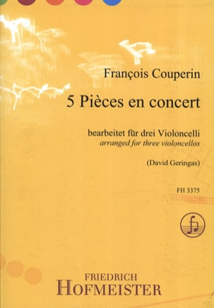 François Couperin - 5 Pieces in Concert - Sheet Music - di-arezzo.com