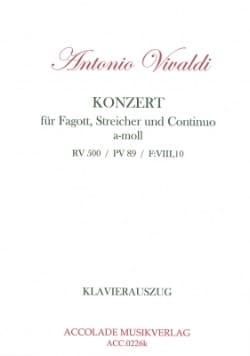 VIVALDI - Concerto en la Mineur, Rv 500 - Basson-Piano - Partition - di-arezzo.fr
