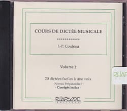 Jean-Pierre Couleau - CD - Musical Dictation Course - Volume 2 - Sheet Music - di-arezzo.co.uk