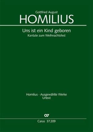 Gottfried August Homilius - Uns Ist Ein Kind Geboren - Howv 2.13 - Partition - di-arezzo.fr