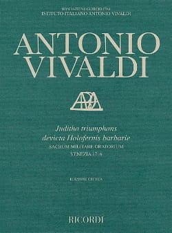 Antonio Vivaldi - Juditha Triumphans Rv 644 - Partition - di-arezzo.fr