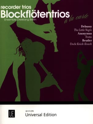 DEBUSSY - The Little Negro, Trotto, Uncle Knick - Knack - Partition - di-arezzo.fr