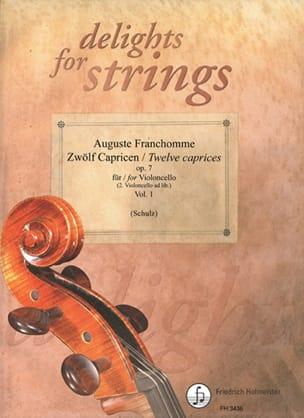 12 Caprices Op.7 Volume 1 Auguste Franchomme Partition laflutedepan