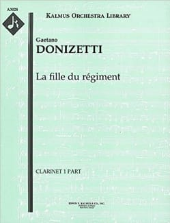 Gaetano Donizetti - The Daughter of the Complete Opera Regiment - Score - Partition - di-arezzo.co.uk