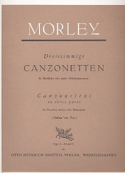Dreistimmige Canzonetten Thomas Morley Partition laflutedepan