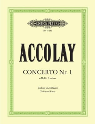 Jean-Baptiste ACCOLAY - Concerto in the minor N ° 1 - Sheet Music - di-arezzo.co.uk