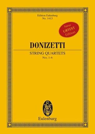Gaetano Donizetti - Quatuors A Cordes N°1-6 - Partition - di-arezzo.fr