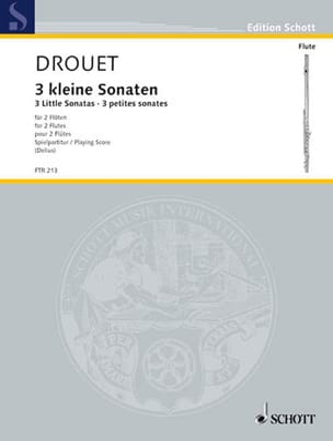 Louis Drouet - 3 Petites Sonates - Partition - di-arezzo.fr