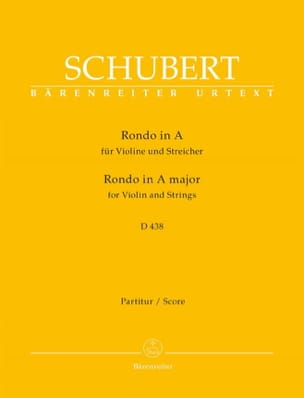SCHUBERT - Rondo en La Maj. D.438 - Conducteur - Partition - di-arezzo.fr
