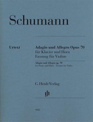 Robert Schumann - Adagio et Allegro Op. 70 - Violon - Partition - di-arezzo.fr