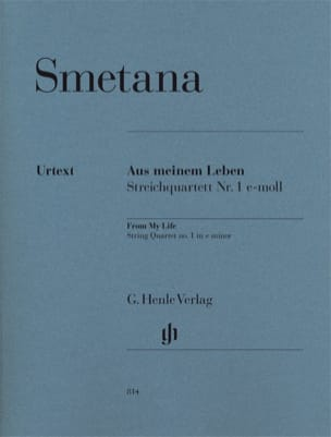 Bedrich Smetana - Quatuor à cordes n° 1 mi mineur « De ma vie » - Partition - di-arezzo.fr