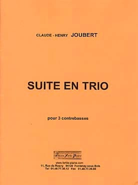Claude-Henry Joubert - Suite en Trio - Partition - di-arezzo.fr