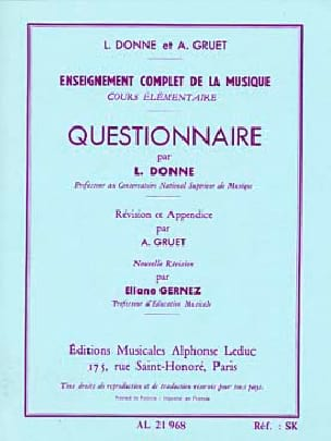 L. et Gruet A. Donne - Questionnaire - Elementary Course - Sheet Music - di-arezzo.co.uk