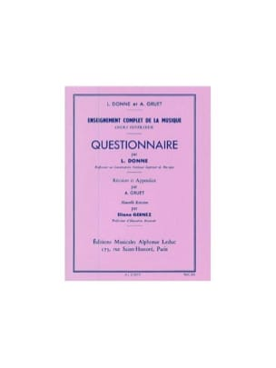 L. et Gruet A. Donne - Questionnaire - Superior Course - Sheet Music - di-arezzo.co.uk