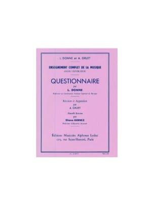 L. et Gruet A. Donne - Cuestionario - Curso Superior - Partitura - di-arezzo.es