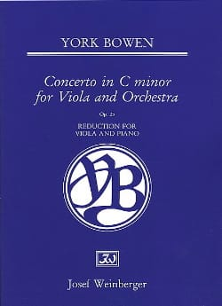 Edwin York Bowen - Concerto In C Minor Op. 25 - Partition - di-arezzo.fr