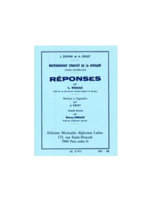 L. et Gruet A. Donne - Answers - Superior Course - Sheet Music - di-arezzo.co.uk