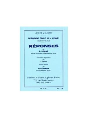 Reponses - Cours Supérieur - L. et Gruet A. Donne - laflutedepan.com