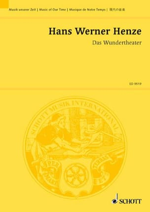 Hans Werner Henze - Das Wundertheater - Sheet Music - di-arezzo.co.uk