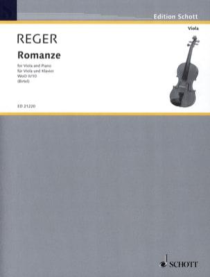 Max Reger - Romance W0o2 / 10 - Alto - Sheet Music - di-arezzo.com