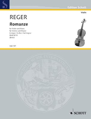 Max Reger - Romance in W0o2 / 10 - Violin - Sheet Music - di-arezzo.co.uk