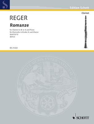Romance W0o2/10 - Clarinette Max Reger Partition laflutedepan