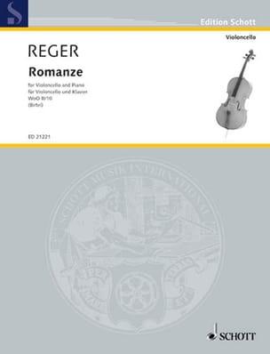 Romance W0o2/10 - Violoncelle - Max Reger - laflutedepan.com