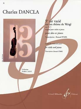 DANCLA - 5th Air Varied Op.89 N ° 5 - Sheet Music - di-arezzo.com