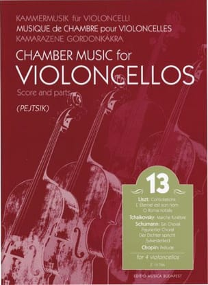 Arpad Pejtsik - Chamber Music For Violoncellos Volume 13 - Partition - di-arezzo.fr