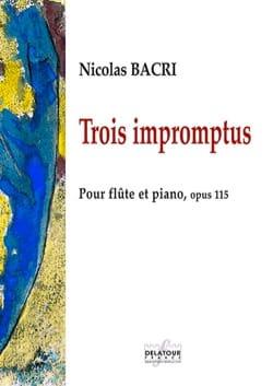 Nicolas Bacri - 3 Impromptus - Partition - di-arezzo.fr