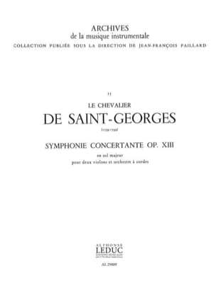 Chevalier de (Joseph Bologn Saint-George - Concertante Symphony in G Major Op.13 - Sheet Music - di-arezzo.com