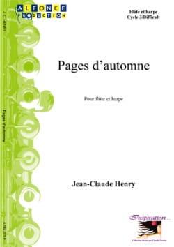 Pages d'Automne - Jean-Claude Henry - Partition - laflutedepan.com