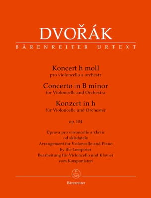 DVORAK - Cello Concerto in B Minor. Opus 104 - Sheet Music - di-arezzo.com