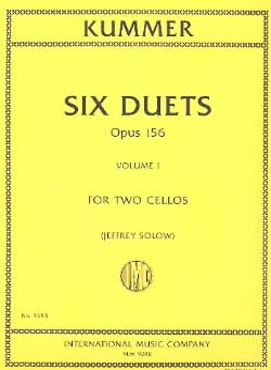 6 Duos Op. 156 Volume 1 Friedrich-August Kummer Partition laflutedepan